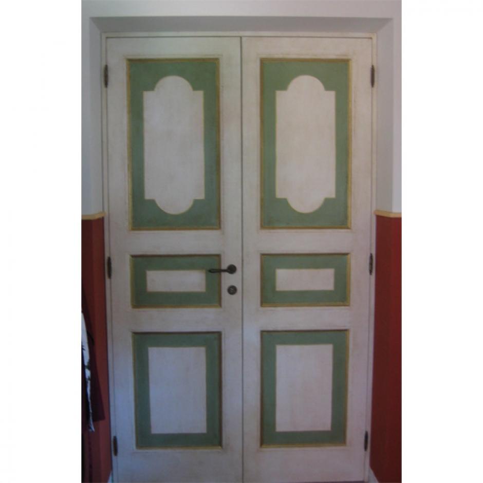 Porta Dipinta a Mano(Cod. 310) - Falegnameria Sfaldaroli, Porte e ...